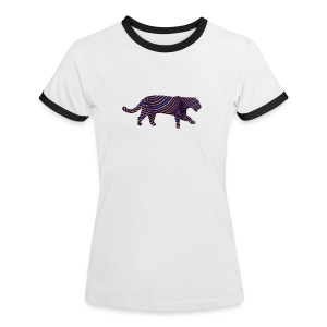 Jaguar in Stripes - Women's Ringer T-Shirt