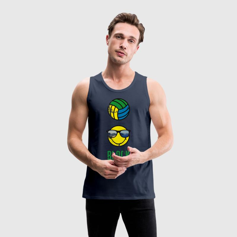 SmileyWorld BLOCK Volleyball - Männer Premium Tank Top