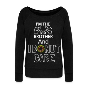 I AM THE BB AND I DONUT CARE! Shirt For Women - Women's Boat Neck Long Sleeve Top