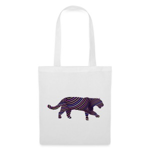 Jaguar in Stripes - Tote Bag