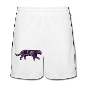 Jaguar in Stripes - Men's Football shorts