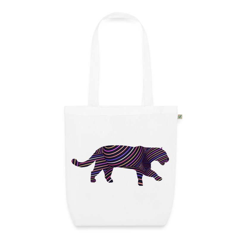 Jaguar in Stripes - EarthPositive Tote Bag