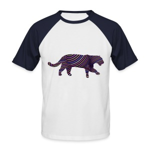 Jaguar in Stripes - Men's Baseball T-Shirt