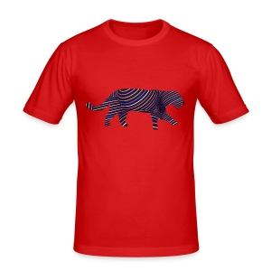 Jaguar in Stripes - Men's Slim Fit T-Shirt