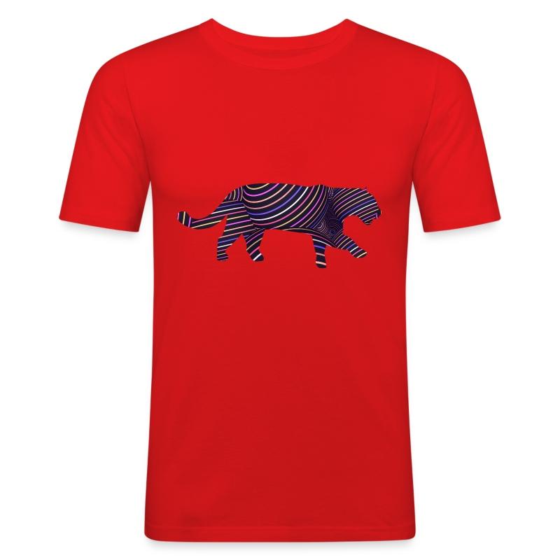 Jaguar in Stripes - Men's Slim Fit T-Shirt