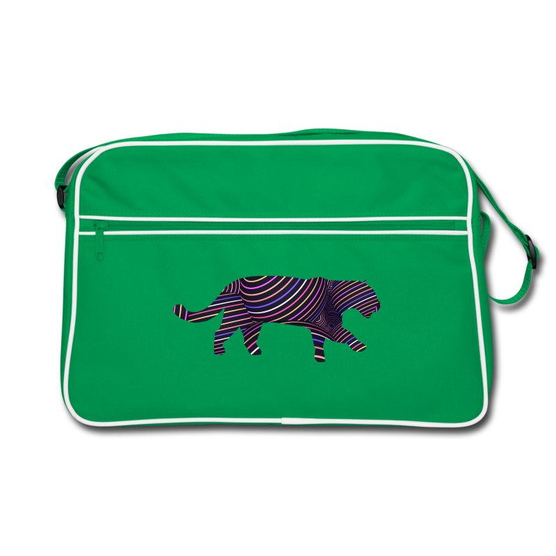 Jaguar in Stripes - Retro Bag