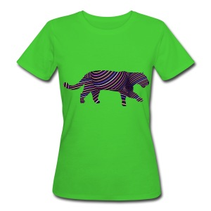 Jaguar in Stripes - Women's Organic T-shirt