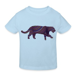 Jaguar in Stripes - Kids' Organic T-shirt