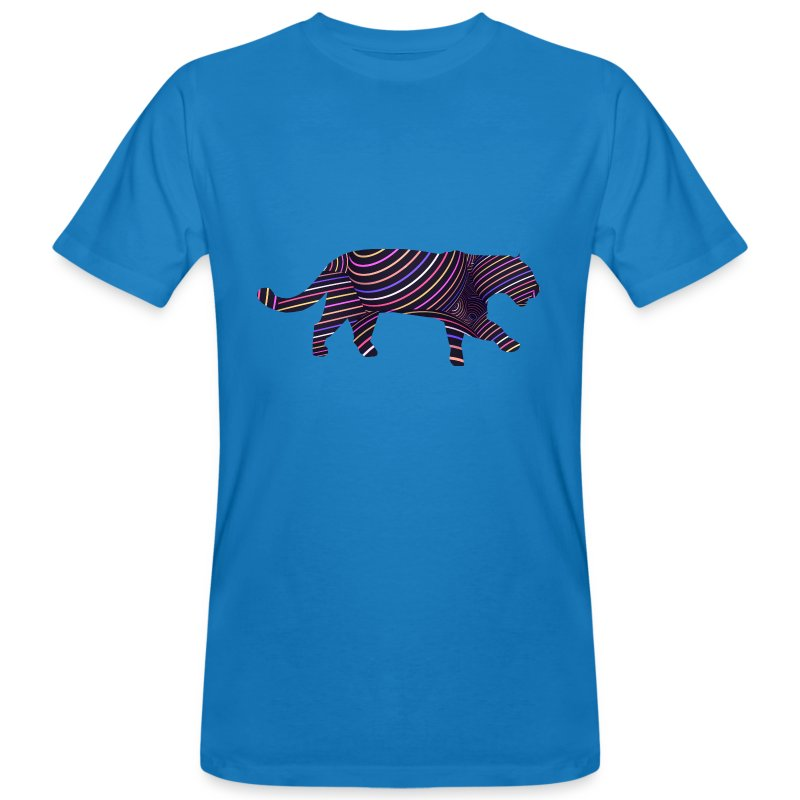 Jaguar in Stripes - Men's Organic T-shirt