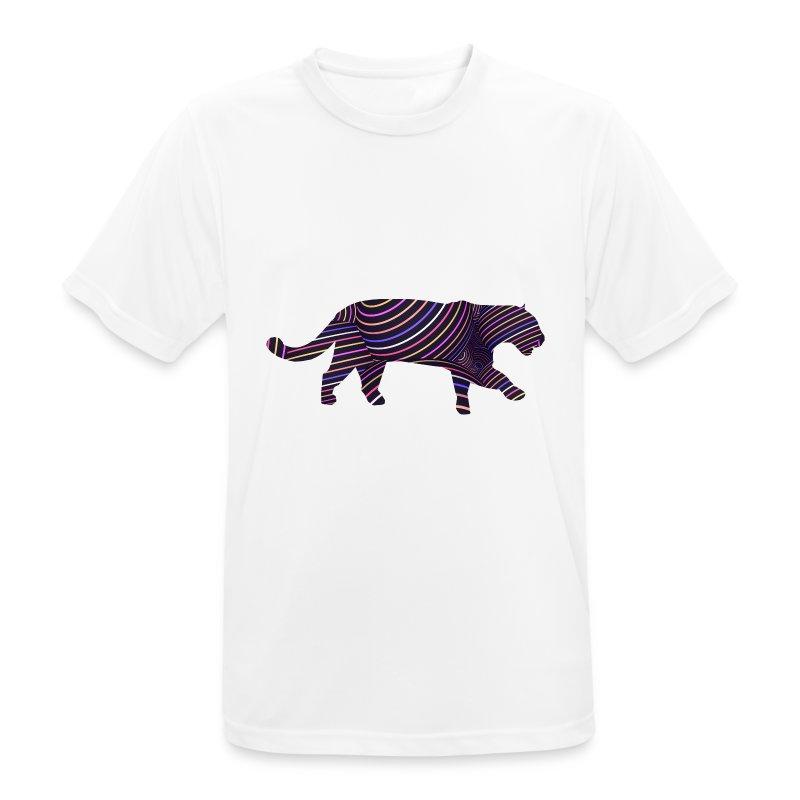 Jaguar in Stripes - Men's Breathable T-Shirt