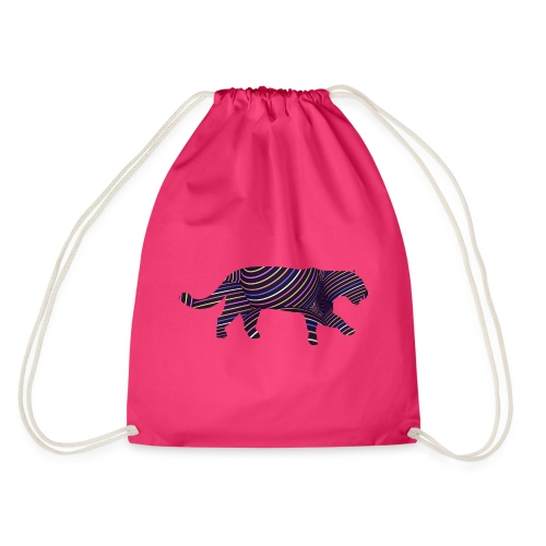 Jaguar in Stripes - Drawstring Bag