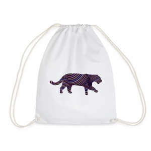 Jaguar in Stripes - Drawstring Bag