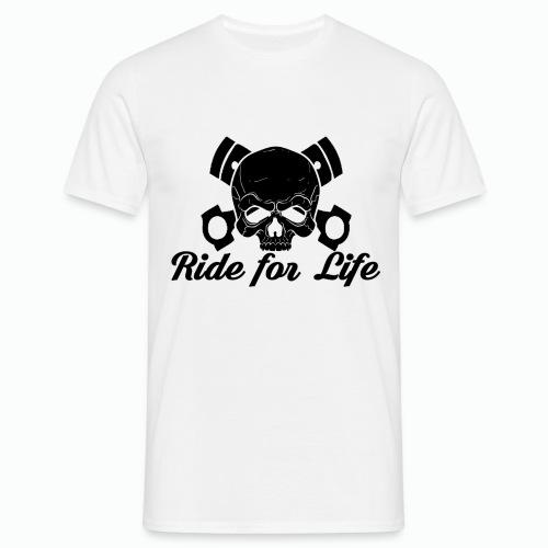 T-Shirt Uomo linea Ride for Life -Fronte- - Maglietta da uomo