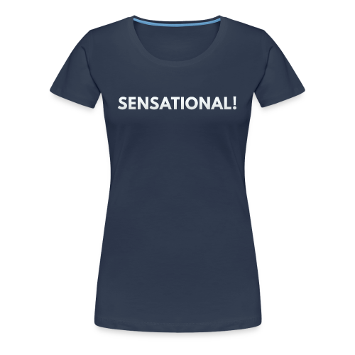 Ladies' Sensational Shirt (White Print) - Frauen Premium T-Shirt