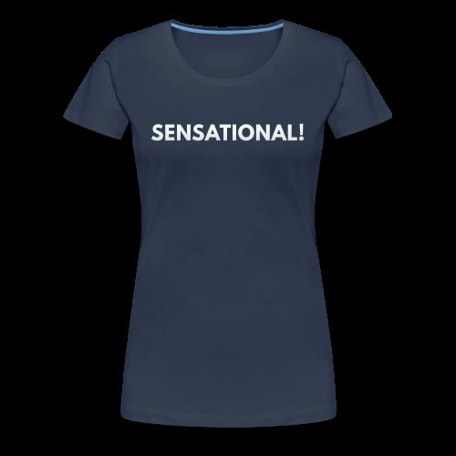 Ladies' Sensational Shirt (White Print) - Frauen Premium T-Shirt