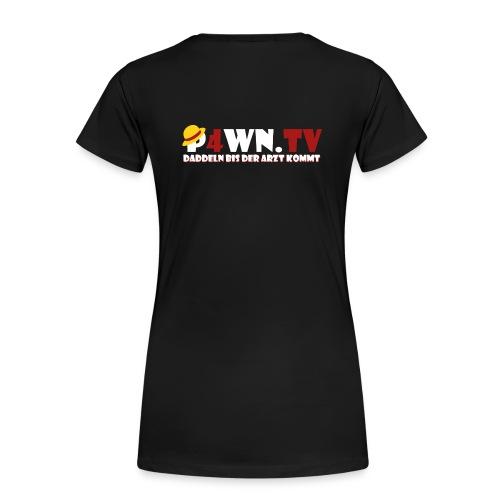 P4WN.TV - Frauen Shirt Premium - Logo weiss - Frauen Premium T-Shirt