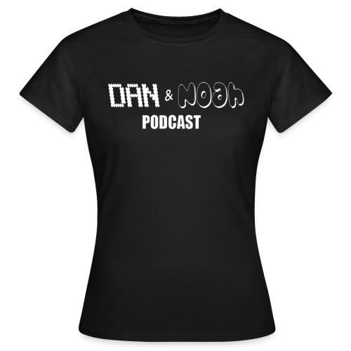 Dan & Noah White Logo Design. - Women's T-Shirt
