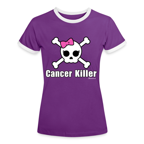 Cancer Killer - Kontrast Shirt - Direktdruck - Frauen Kontrast-T-Shirt