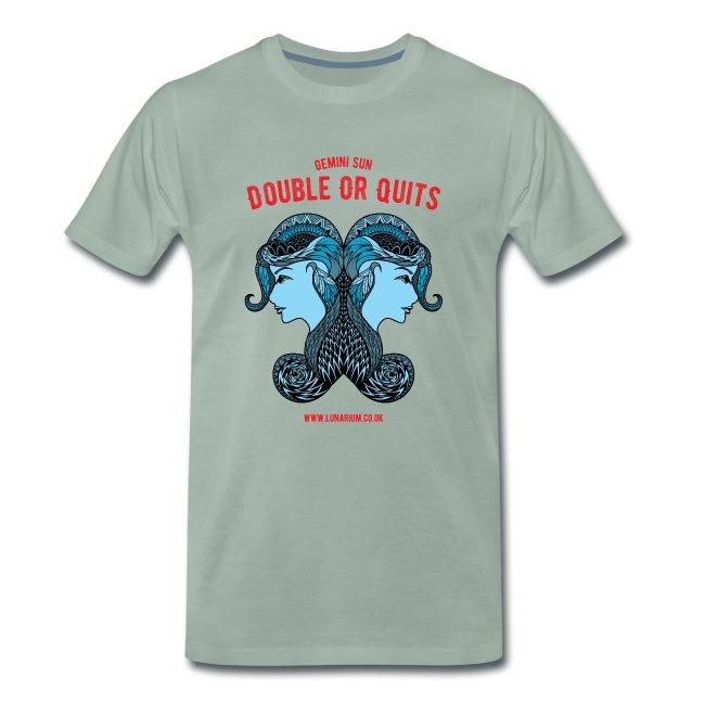 Gemini Sun Sign Men's Premium T-Shirt