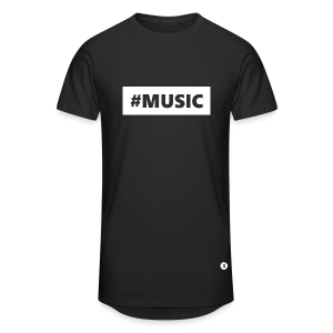 T-shirt long Hashtag Music - T-shirt long Homme