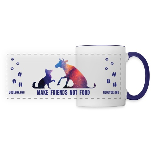Make Friends Not Food #2 - Panoramic Mug