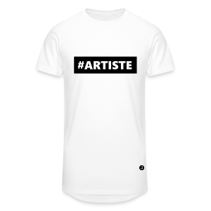 T-shirt long Hashtag Artiste black - T-shirt long Homme