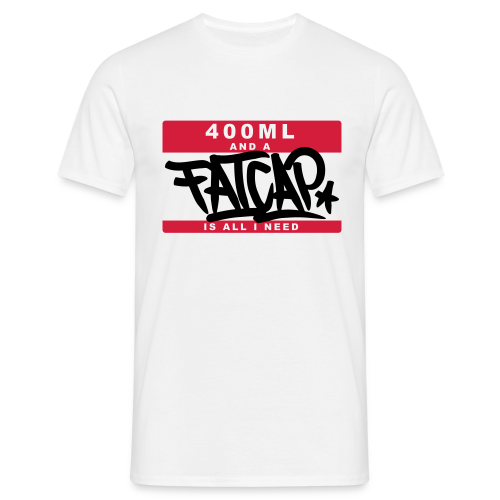 T-Shirt Fatcap Weiß - Männer T-Shirt