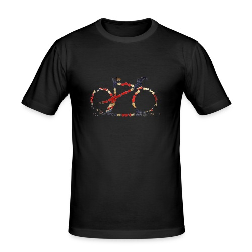 Men's Slim Fit T-Shirt - MTB,bike,biking,cycling,design,mens,mountain,original,print,riding,road,shirt,t-shirt,tee,top,track,unique
