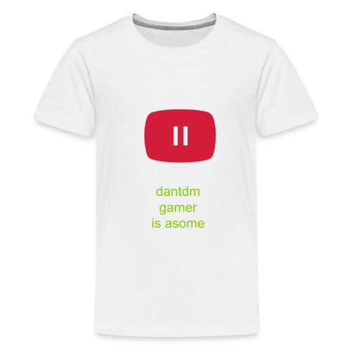 dantdm gamer t-shirt colurs - Teenage Premium T-Shirt