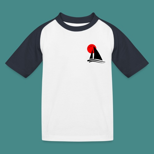 Sailing Black - Kids' Baseball T-Shirt