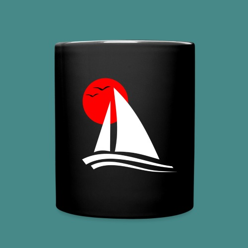 Sailing Black - Full Colour Mug