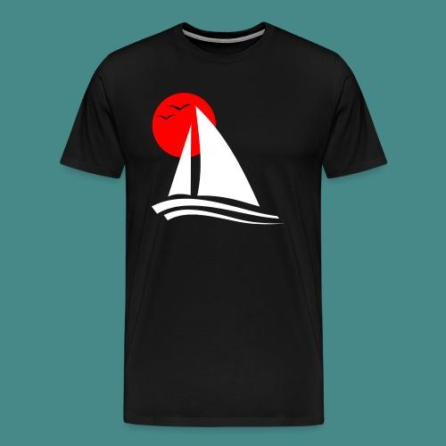 Sailing Black - Men's Premium T-Shirt
