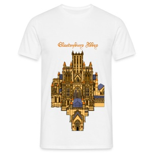 Glastonbury Abbey (Front) - Men's T-Shirt