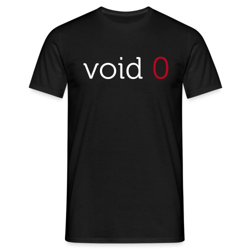 Coders Choice: void 0 Basic Shirt - Men's T-Shirt