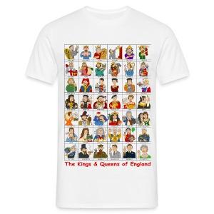 Kings & Queens of England (Front) - Men's T-Shirt