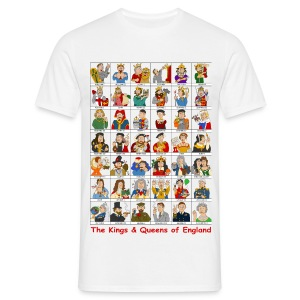 Kings & Queens of England (Front) - Men's T-Shirt