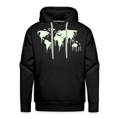 Leuchtende Weltkarte Graffiti - Männer Premium Hoodie