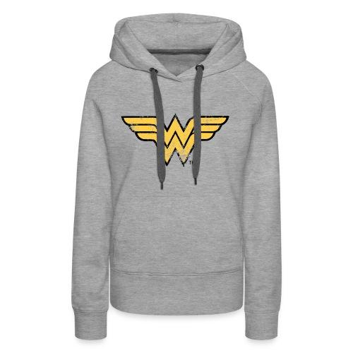 Wonder Woman Logo Vintage Pullover - Frauen Premium Hoodie