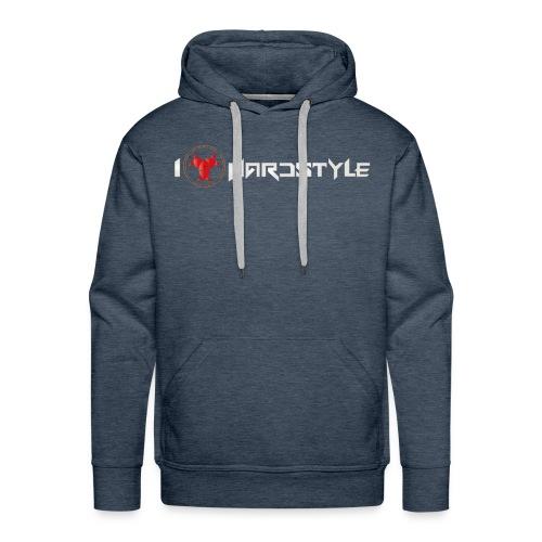 I love Hardstyle Hoodie - Men's Premium Hoodie