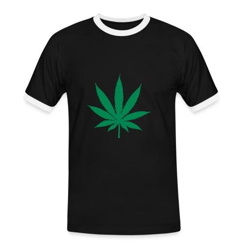 T-Shirt-Schwarz - Männer Kontrast-T-Shirt
