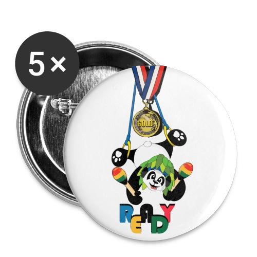 panda Jeux été - Badge grand 56 mm