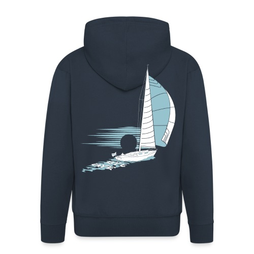 Sailing Away - Men's Premium Hooded Jacket