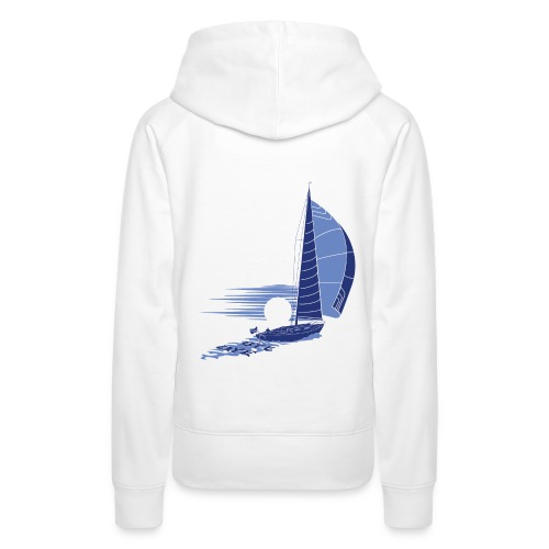 Sailing Away_white - Women's Premium Hoodie