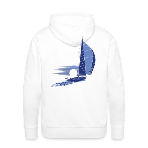 Sailing away_white - Men's Premium Hoodie