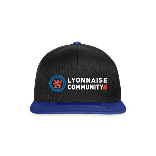 Casquette Lyonnaise Community NOIR/BLEU - Casquette snapback