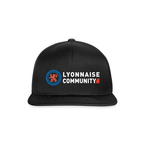 Casquette Lyonnaise Community NOIR - Casquette snapback