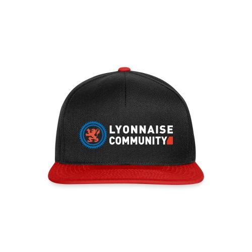 Casquette Lyonnaise Community NOIR/ROUGE - Casquette snapback