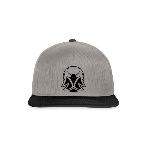 Kappe (gerade, beige/schwarz) - Snapback Cap