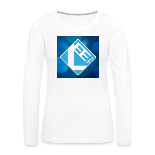 LeeTV Long Sleeve Shirt - WOMENS (white) - Women's Premium Longsleeve Shirt