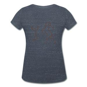 Front: LOGOSchriftzug Back: Energy V-Shirt (Print Digital Chocolate) - Frauen Bio-T-Shirt mit V-Ausschnitt von Stanley & Stella